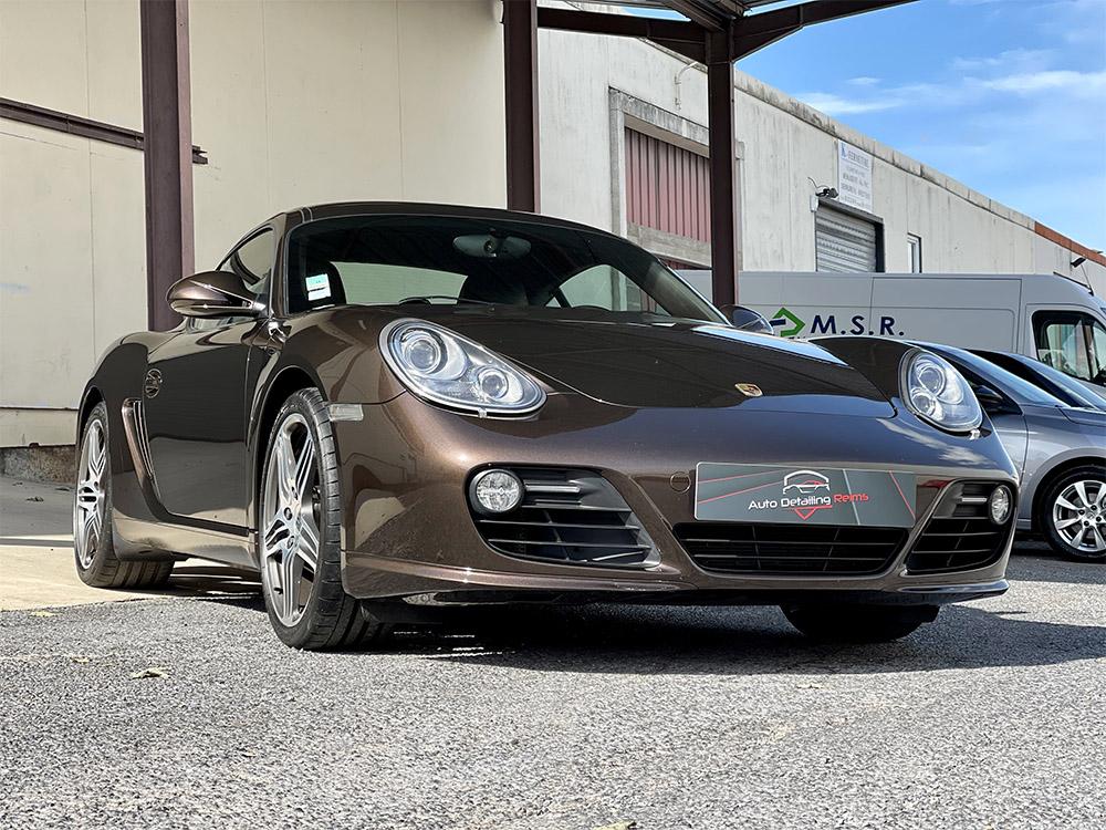 Rénovation carrosserie par vernissage RestorFX sur Porsche Cayman S