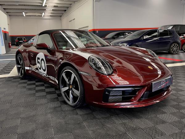 Traitement céramique et film de protection sur Porsche 911 Targa 4S Heritage Design Edition